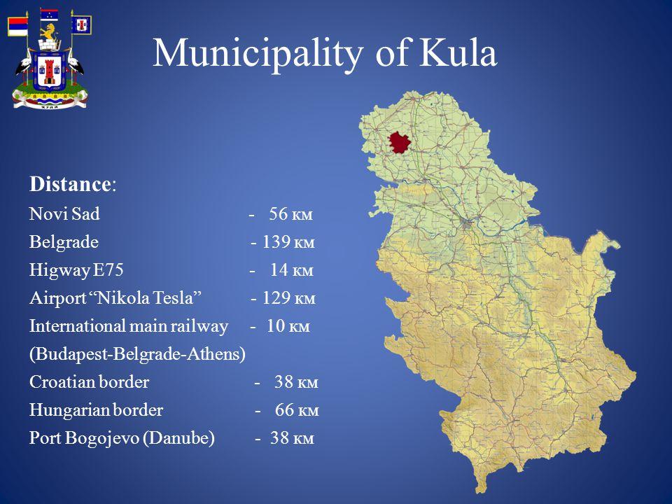 Municipality of Kula: Basic economic indicators: Kula municipality belongs to the second group of municipalities according to the model of development that has established the Ministry of Finance of the Republic of Serbia.