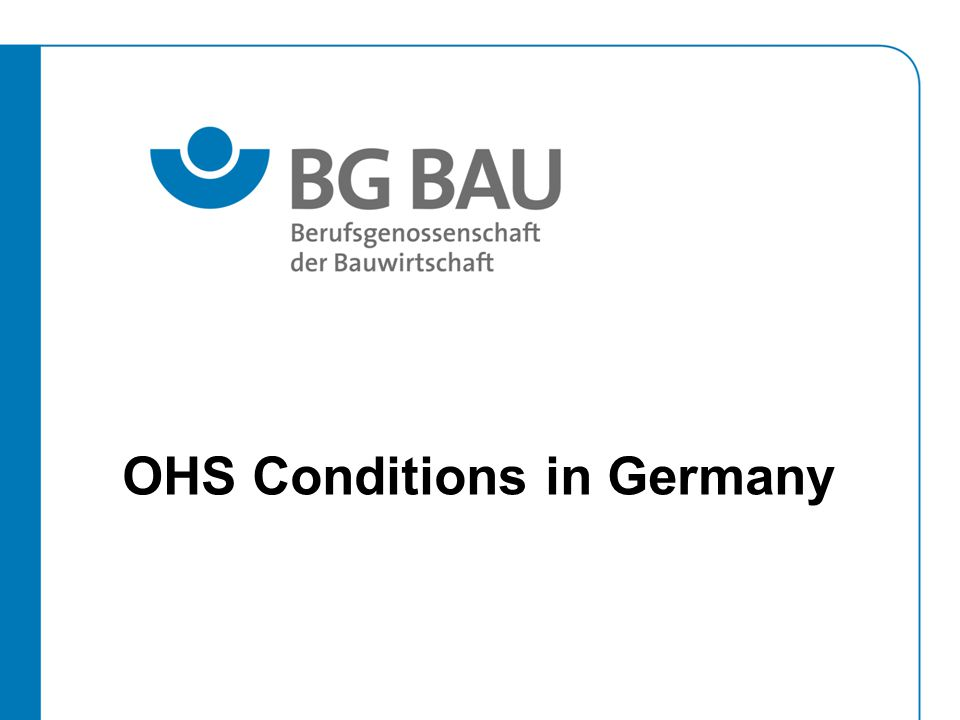 OHS Conditions in Germany