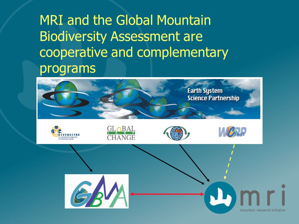 MRI and the Global Mountain Biodiversity Assessment are cooperative and complementary programs