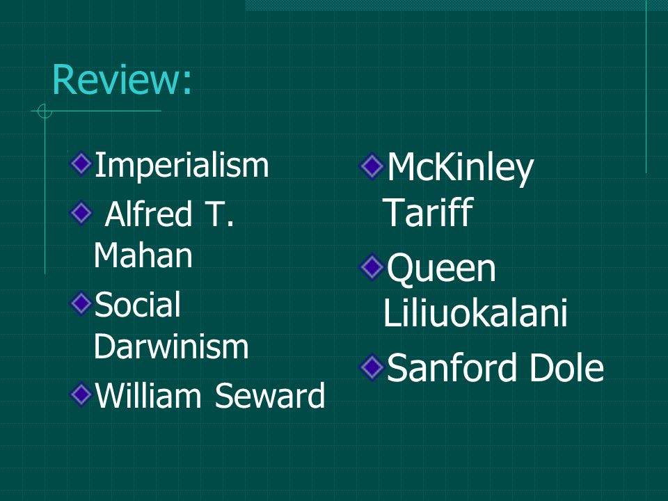 Review: Imperialism Alfred T.