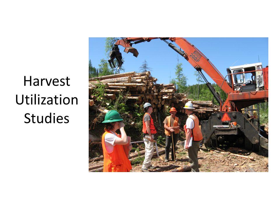 Harvest Utilization Studies