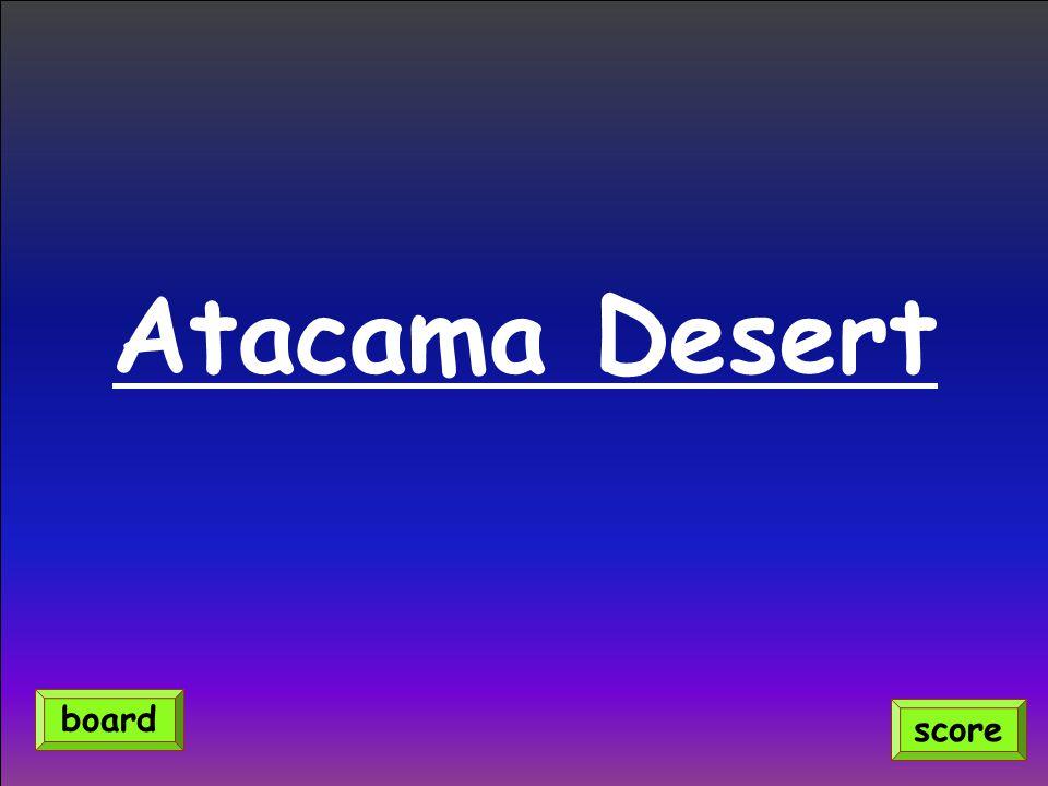Atacama Desert score board