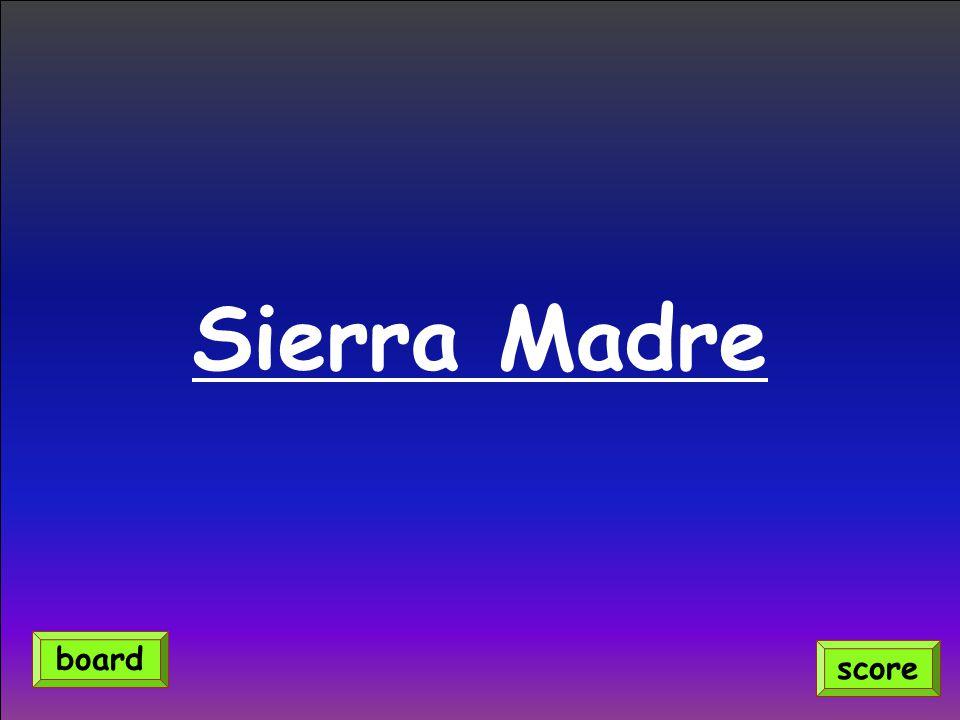Sierra Madre score board