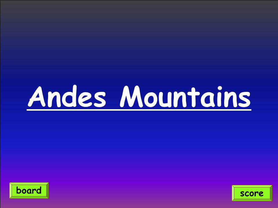 Andes Mountains score board