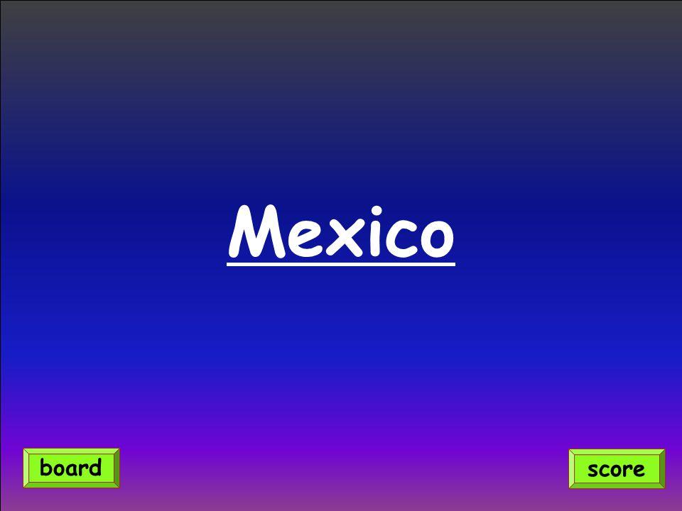 Mexico score board