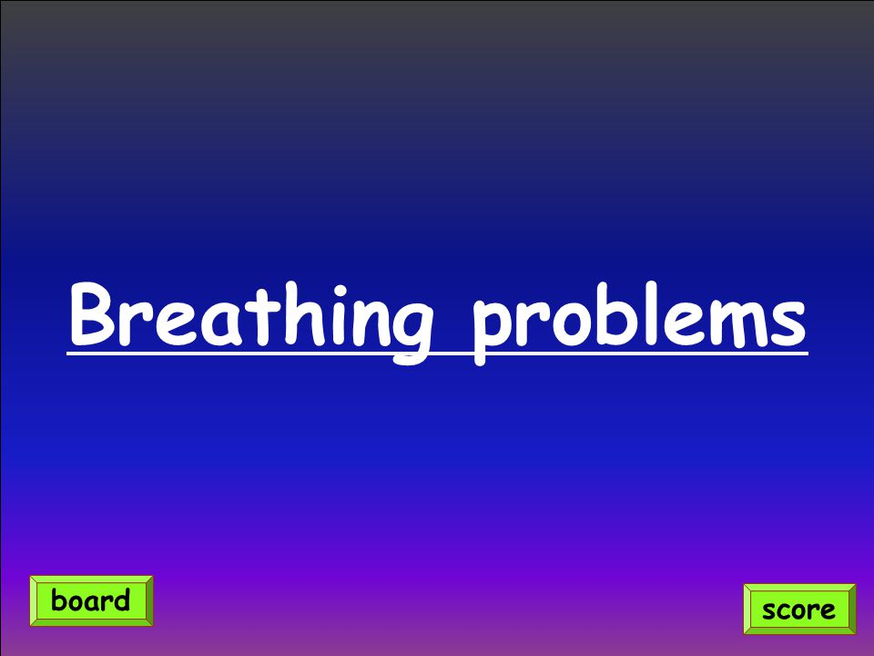 Breathing problems score board