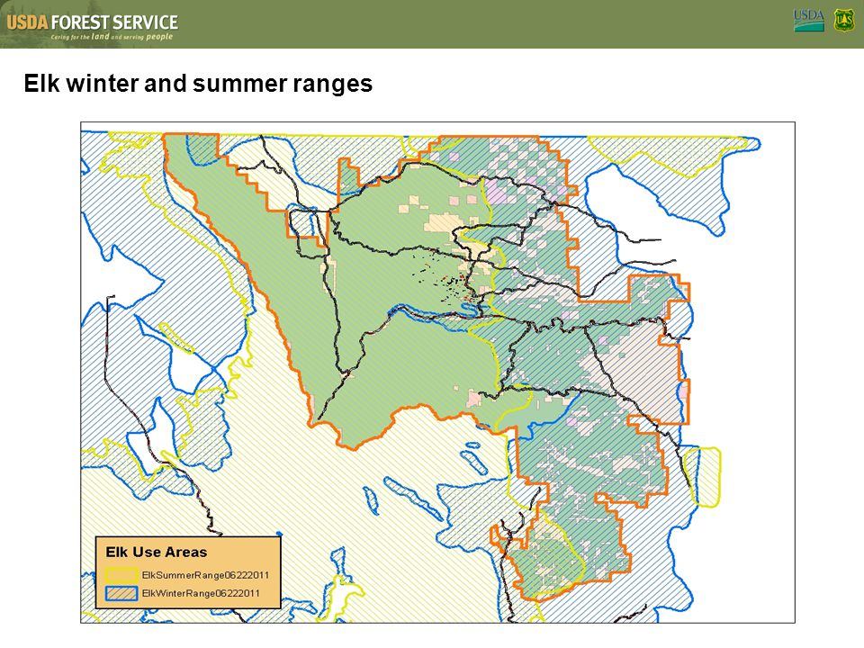 Elk winter and summer ranges