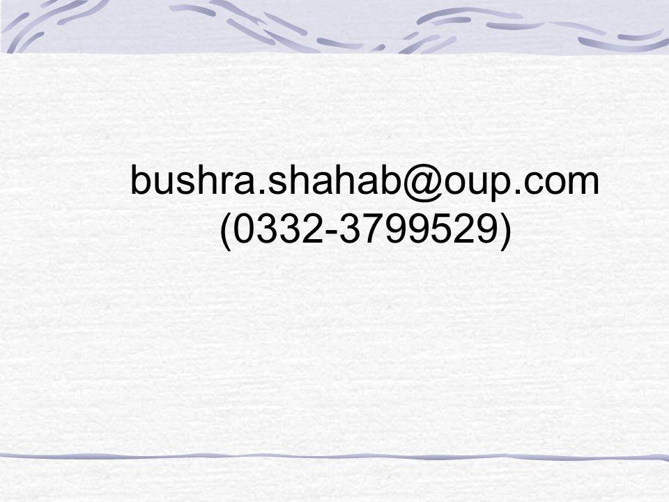bushra.shahab@oup.com (0332-3799529)