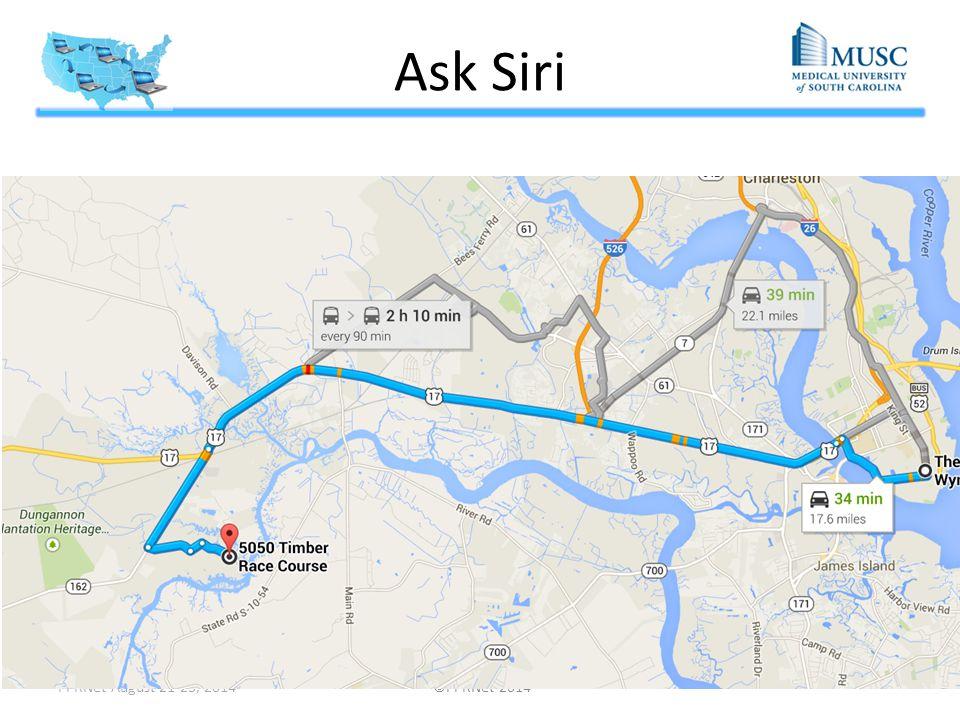Ask Siri PPRNet August 21-23, 2014 ©PPRNet 2014