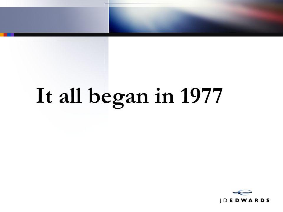 It all began in 1977