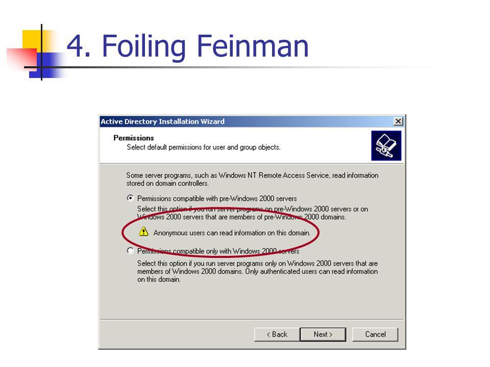 4. Foiling Feinman