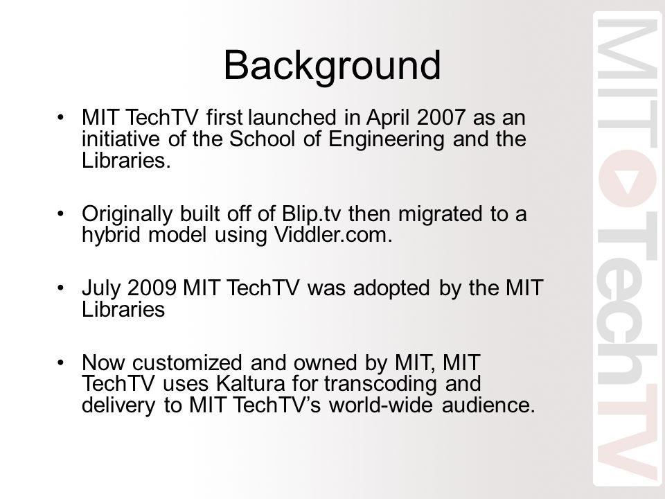MIT TechTV Workflow