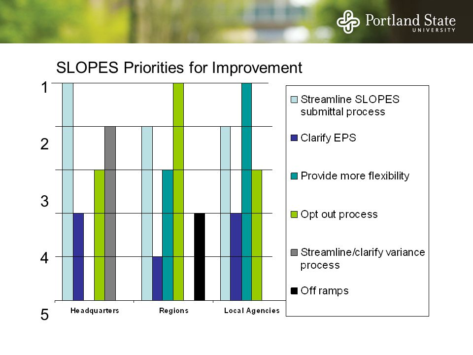 1234512345 SLOPES Priorities for Improvement