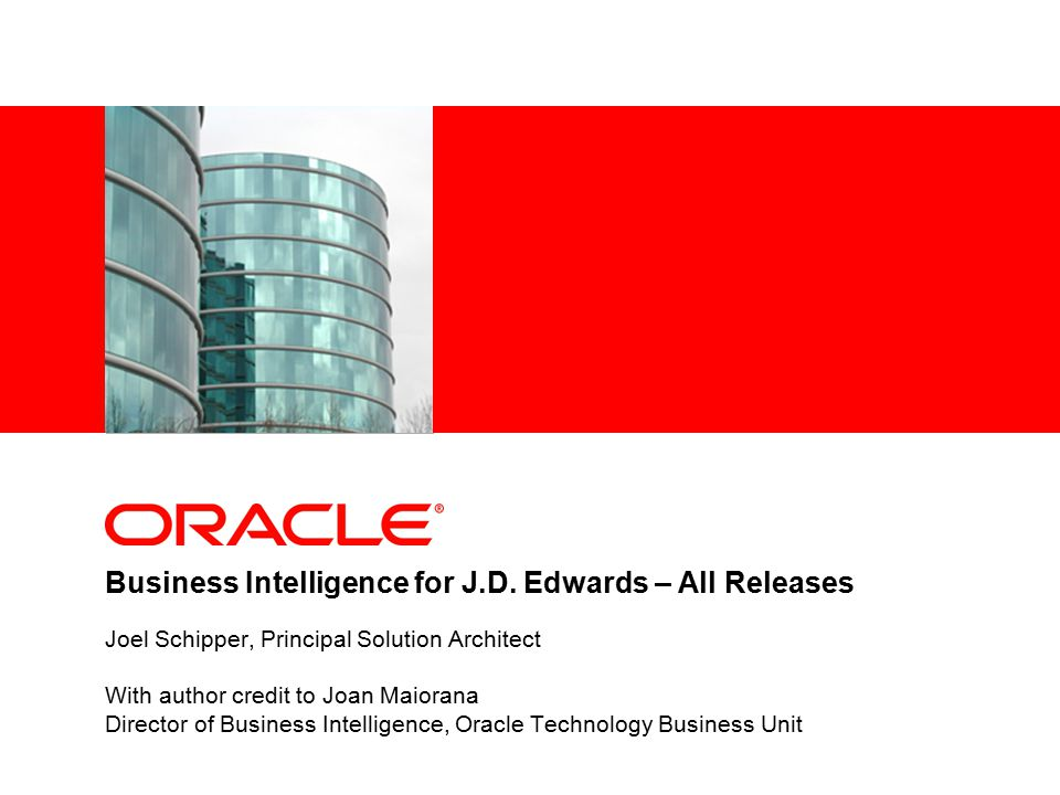 Business Intelligence for J.D.