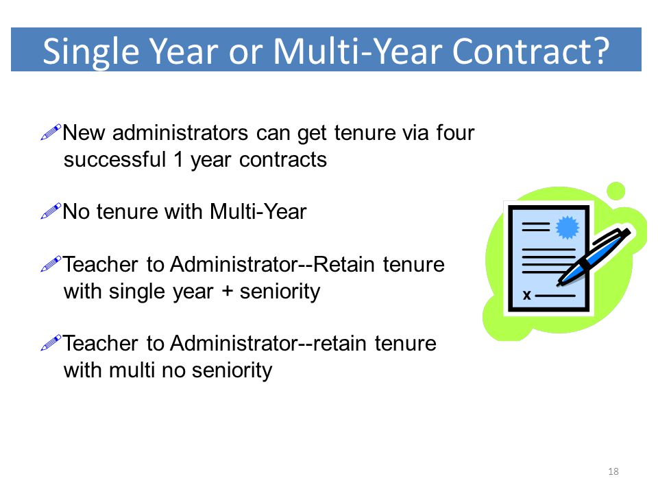 Single Year or Multi-Year Contract.