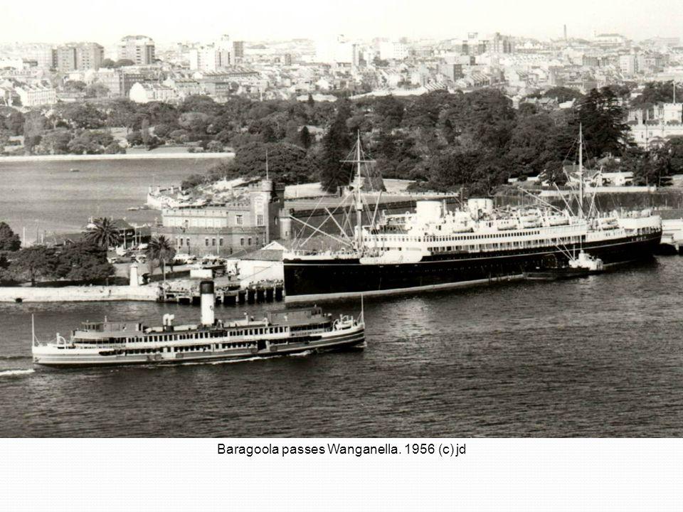 Baragoola passes Wanganella. 1956 (c) jd