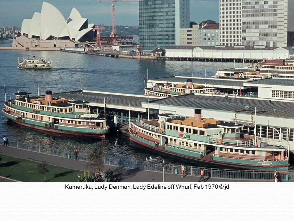 Kameruka, Lady Denman, Lady Edeline off Wharf, Feb 1970 © jd