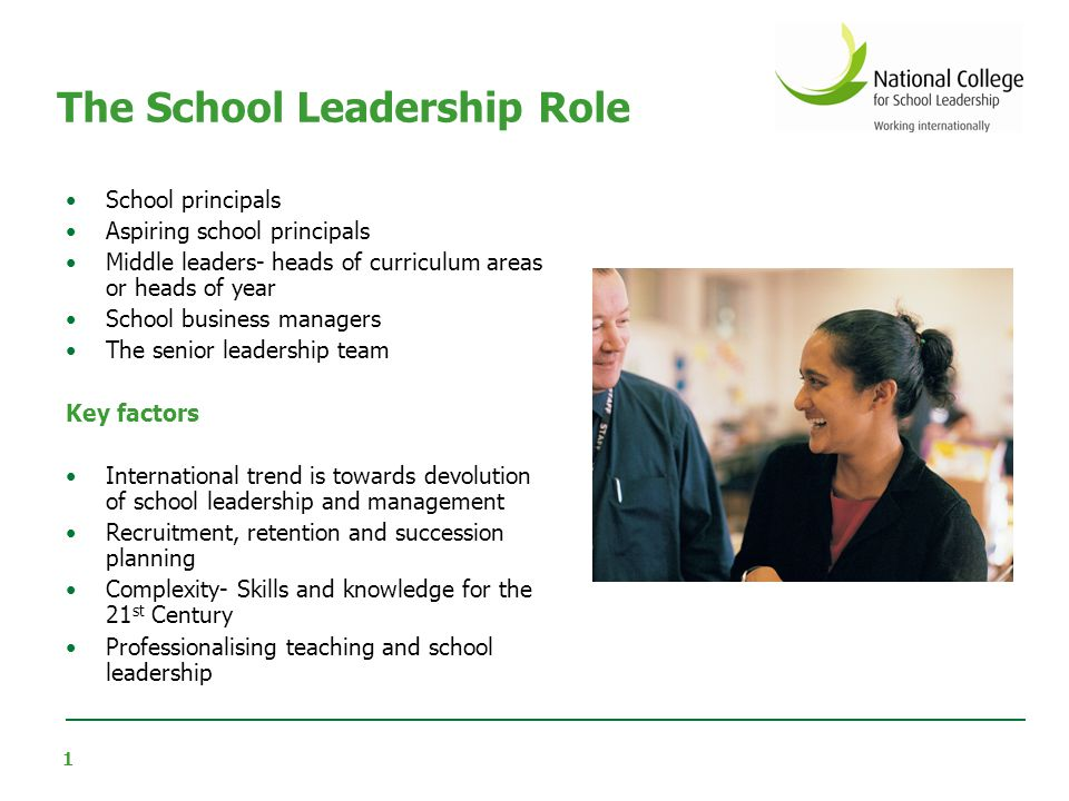 2 Successful school leadership today is Data and evidence based More collaborative than ever Focused on leadership capacity Distributed across staff and professional disciplines Learning- centred Complex, accountable, relentless AND rewarding Responsive to its context Changing and evolving What we know about school leadership, NCSL, 2007 The School Leadership Role
