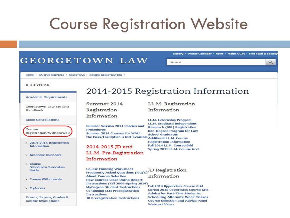Course Registration Website