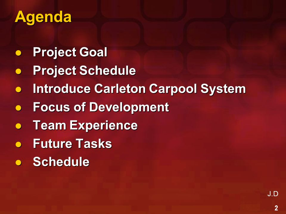3 Project Goal Project Goal Project Goal  Reduce traffic jam,  Reduce air pollution  Inexpensive traveling Team Goal Team Goal  Gain experience in develop Pro.