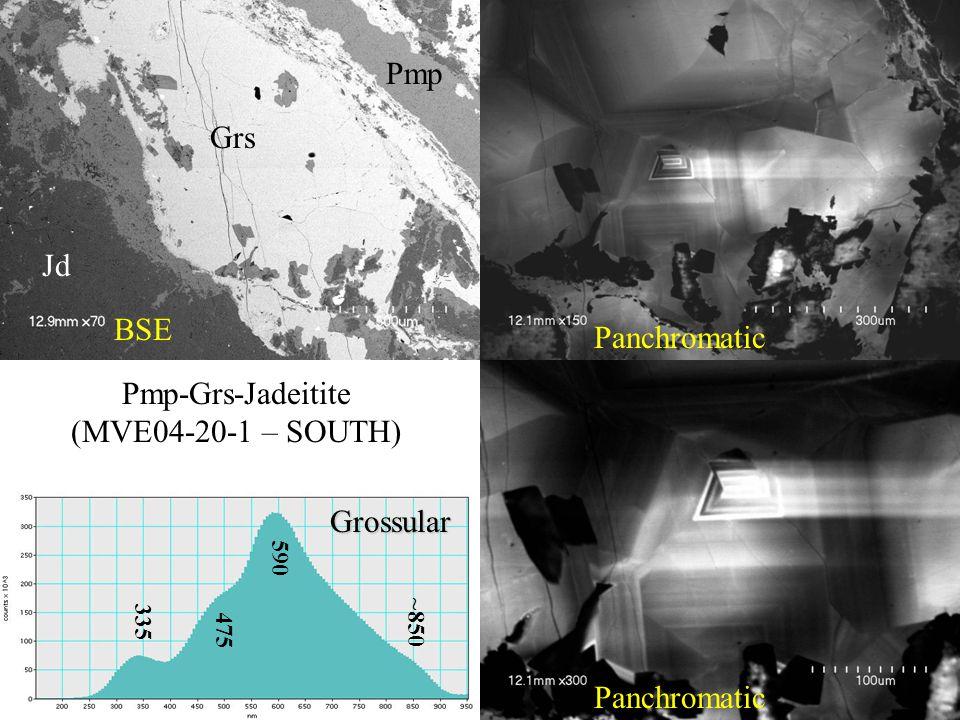 Panchromatic BSE Grs Jd Pmp Grossular 590 335 475 ~850 Pmp-Grs-Jadeitite (MVE04-20-1 – SOUTH)