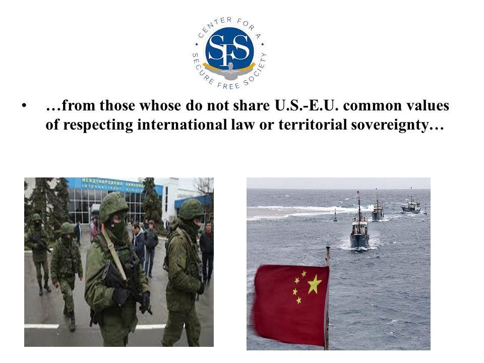 …from those whose do not share U.S.-E.U.