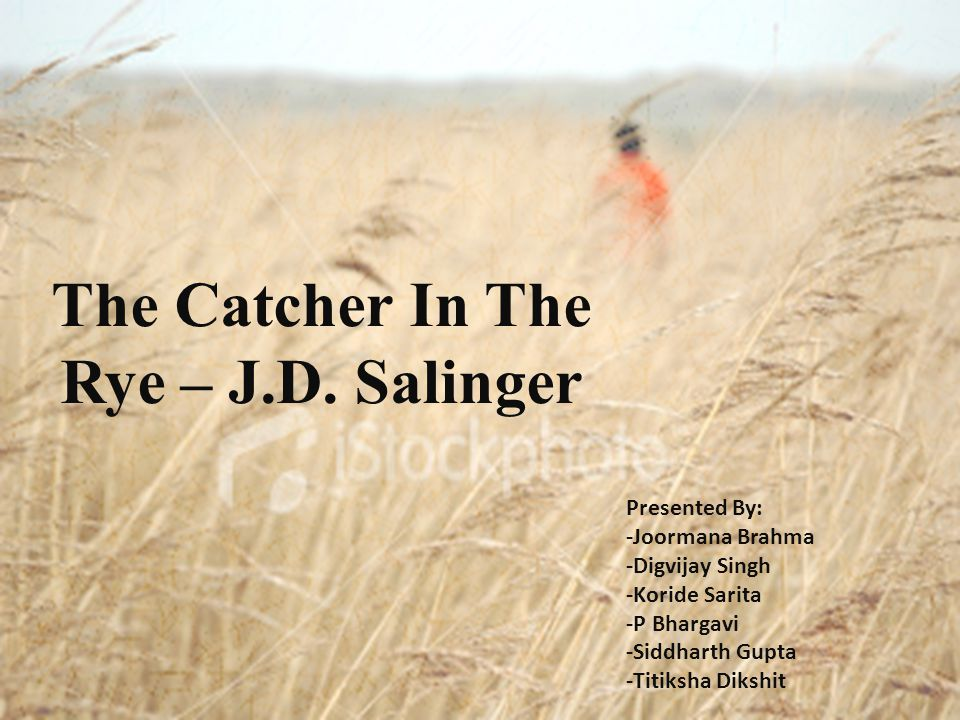 catcher in the rye thesis outline Thesis essay on catcher in the rye ranked #1 by 10,000 plus clients for 25 years our certified resume writers have been developing compelling resumes, cover letters, professional bios, linkedin profiles and other personal branding documentation to get clients into the doors of top employers – everyday.