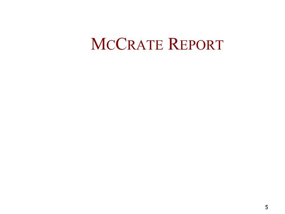 M C C RATE R EPORT 5