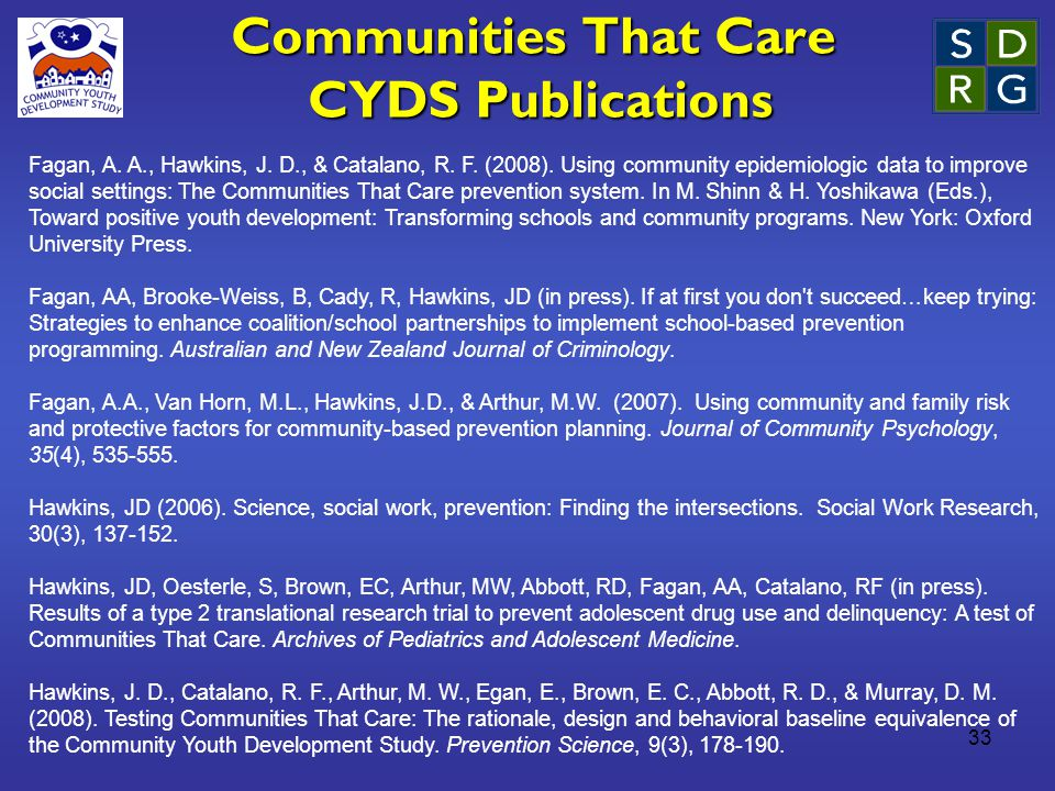 33 Communities That Care CYDS Publications Fagan, A.