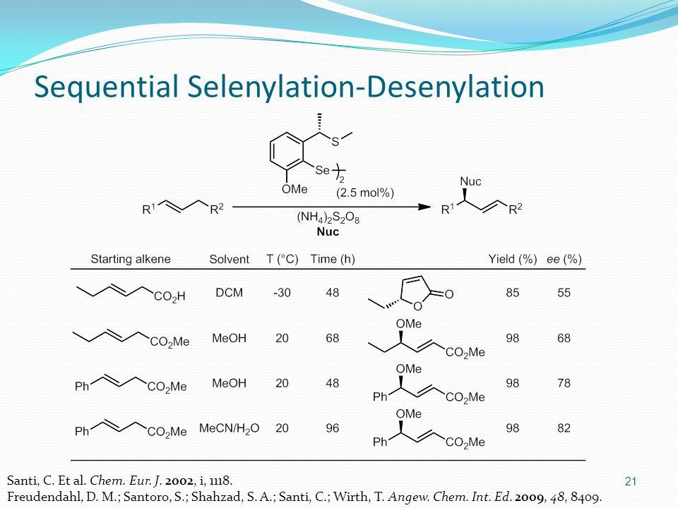 21 Sequential Selenylation-Desenylation Santi, C. Et al.