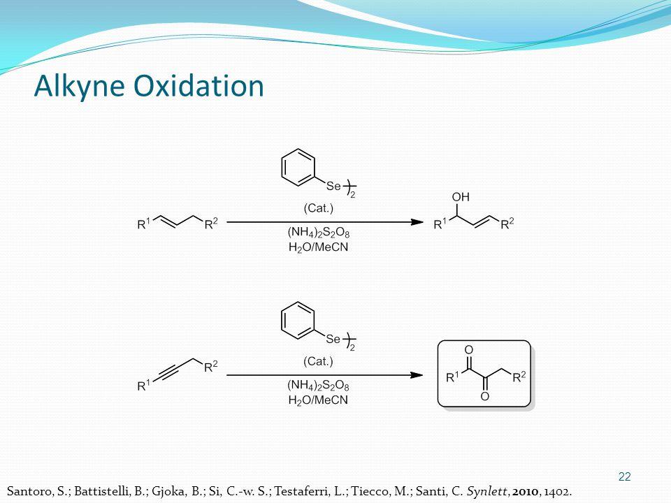 22 Alkyne Oxidation Santoro, S.; Battistelli, B.; Gjoka, B.; Si, C.-w.