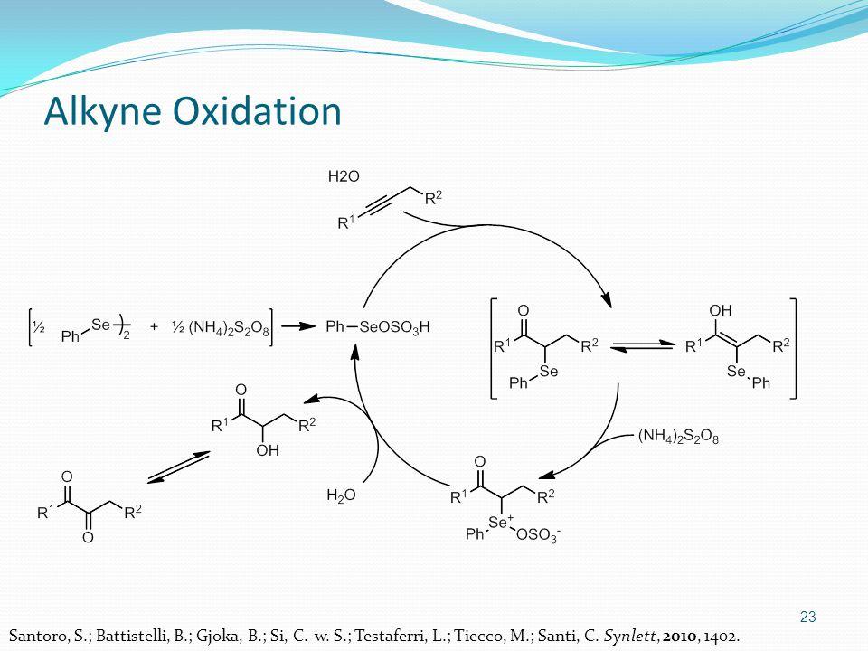 23 Alkyne Oxidation Santoro, S.; Battistelli, B.; Gjoka, B.; Si, C.-w.