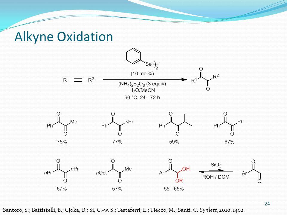 24 Alkyne Oxidation Santoro, S.; Battistelli, B.; Gjoka, B.; Si, C.-w.