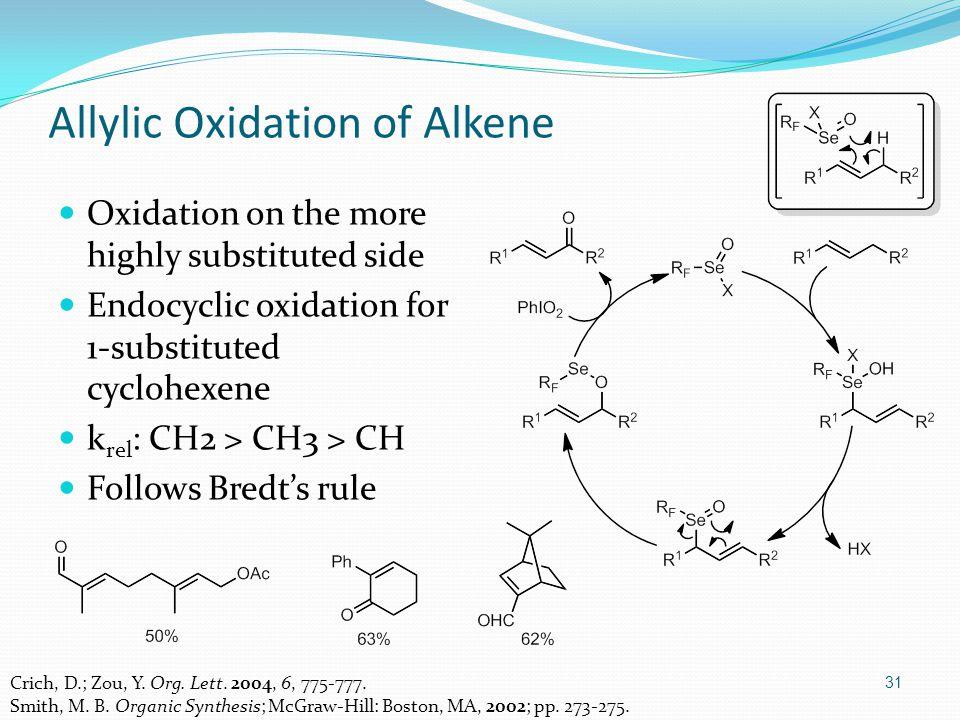 31 Allylic Oxidation of Alkene Crich, D.; Zou, Y. Org.
