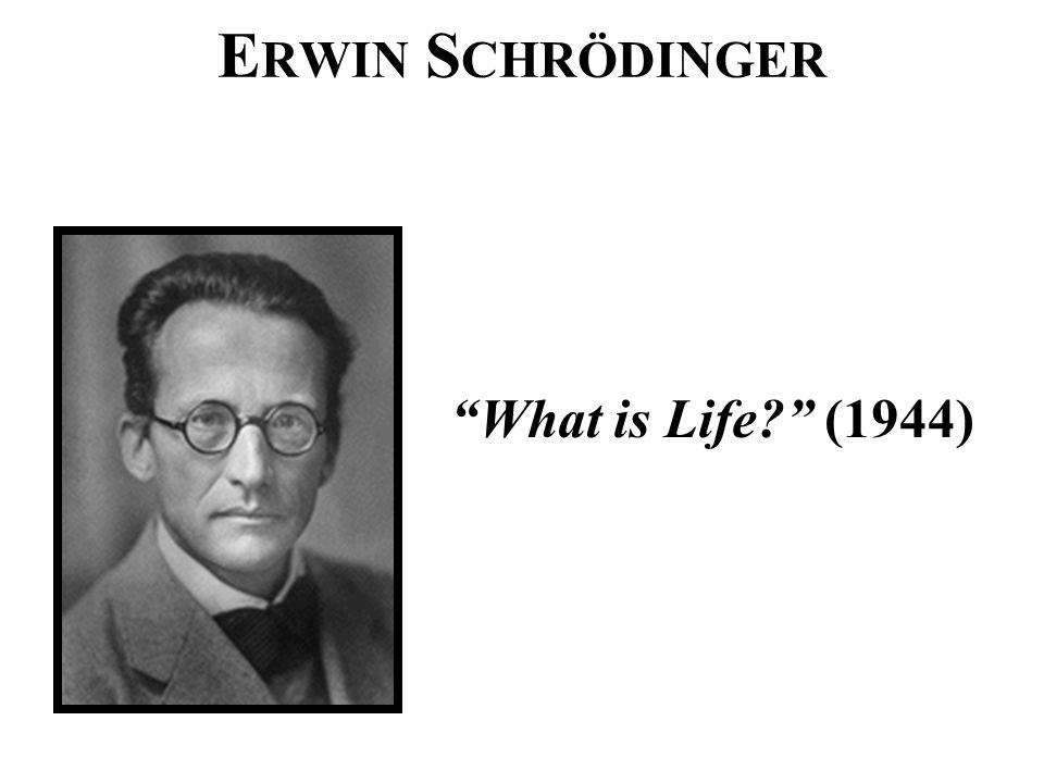 "E RWIN S CHRÖDINGER ""What is Life?"" (1944)"