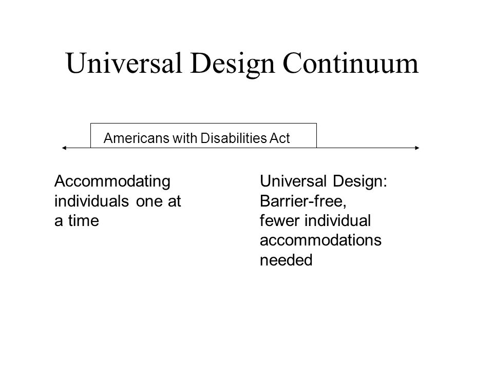 Why Universal Design (UD) & Universal Instructional Design (UID).