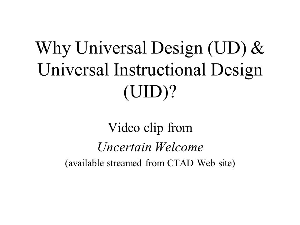 CRDEUL Affiliate for both CTAD and PASS IT http://www.gen.umn.edu/research/crdeul Resource for Curriculum Transformation and Disability: Implementing Universal Design in Higher Education, 300+ page book downloadable in pdf format: Click on Publications, then Books