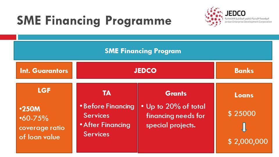 SME Financing Programme SME Financing Program Int.