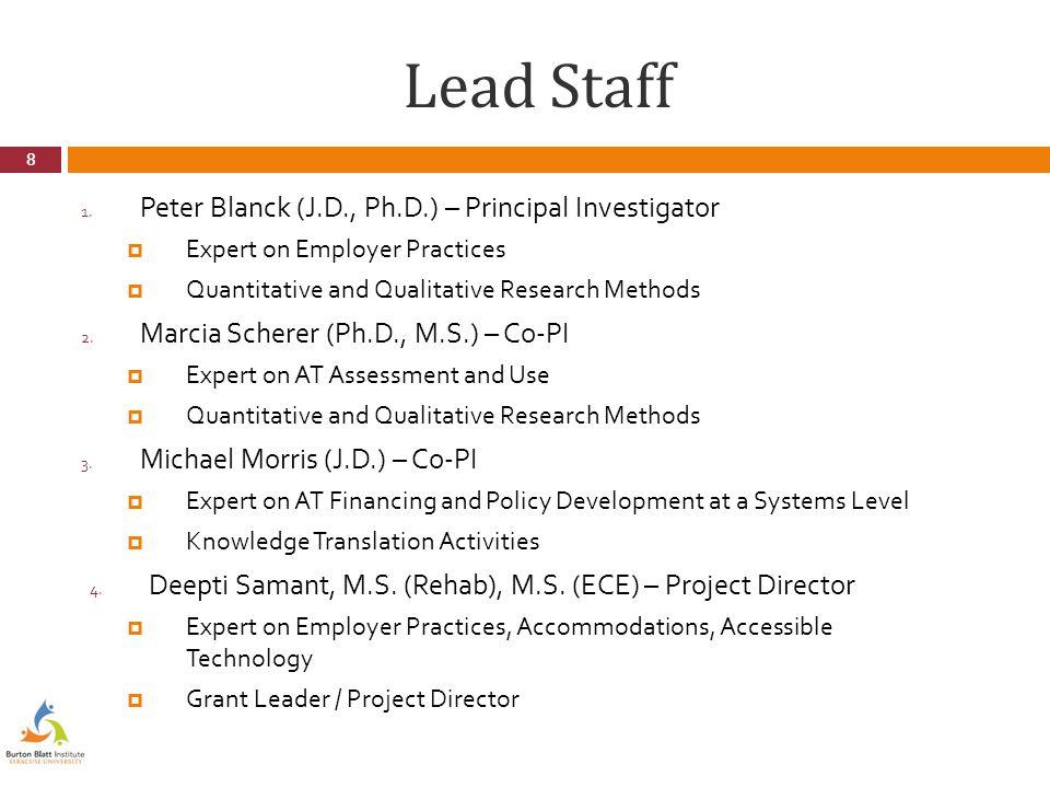 Lead Staff 1.