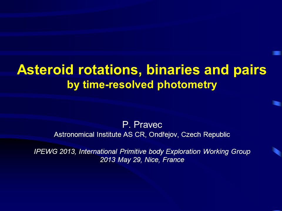 Asteroid rotations, binaries and pairs by time-resolved photometry P.