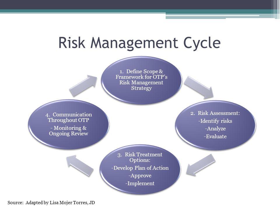 Step 1: Define Scope 1.Define Scope & Framework for OTP's Risk Management Strategy 2.