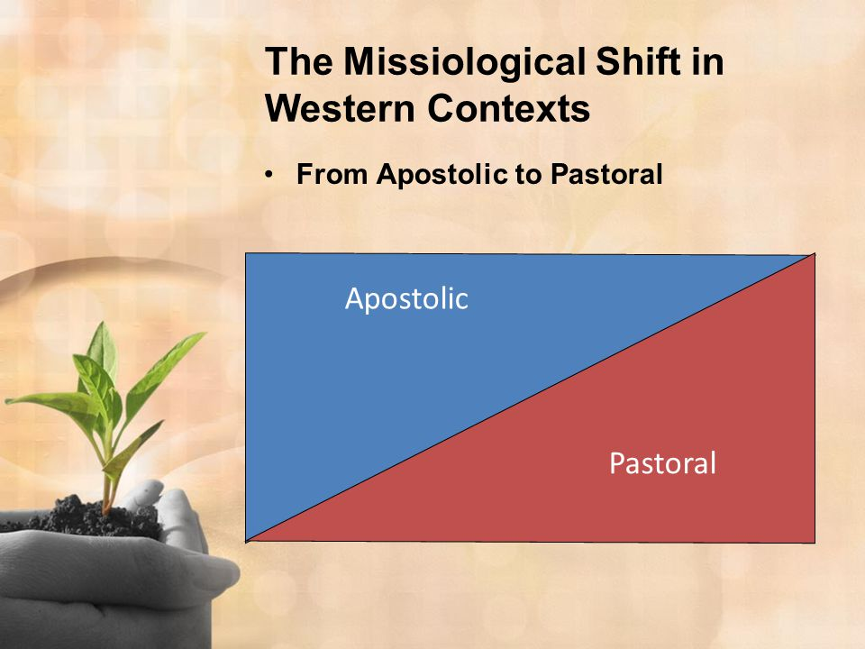The Missiological Shift in Western Contexts From Apostolic to Pastoral Apostolic Pastoral