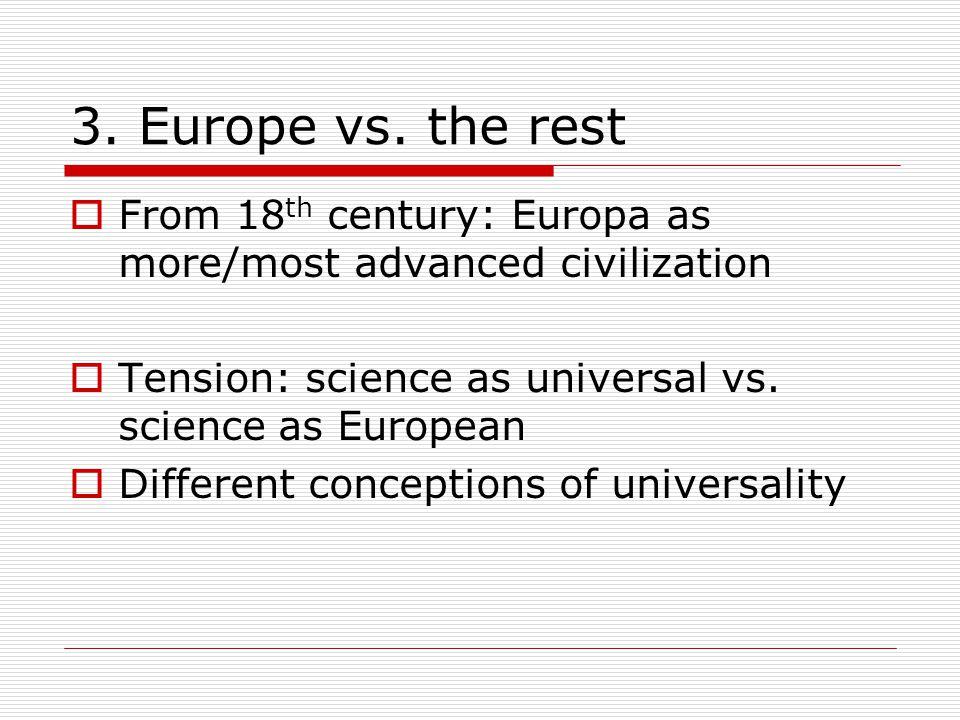 3. Europe vs.