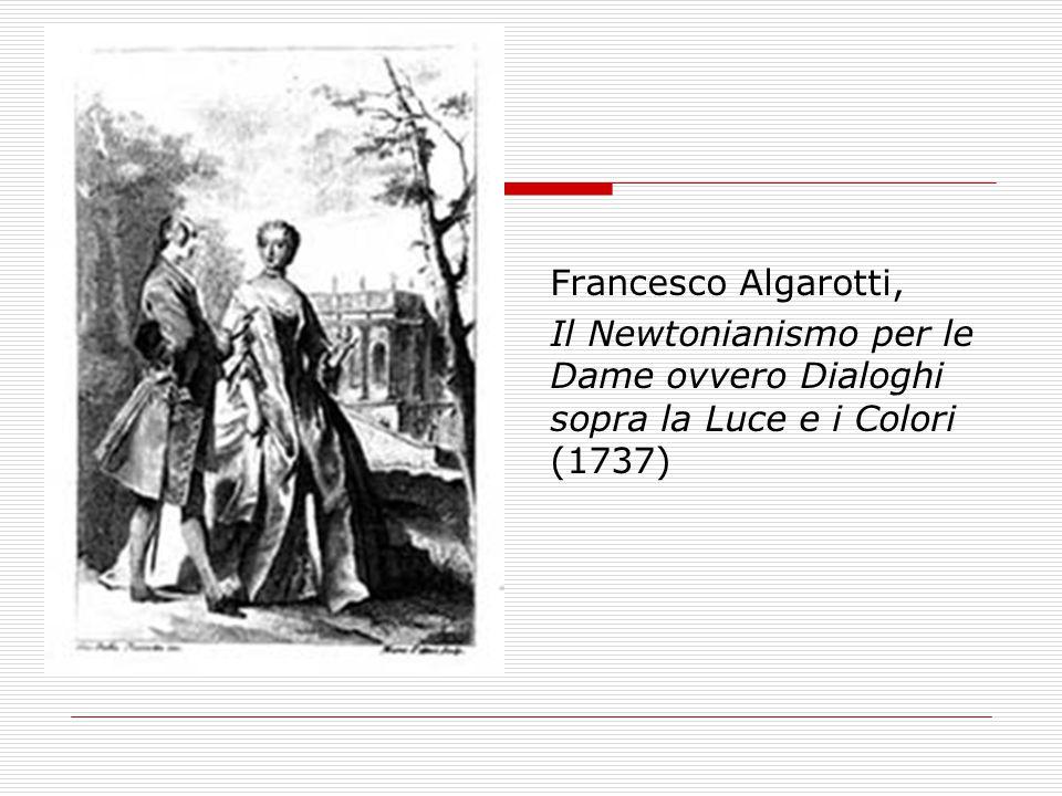 Francesco Algarotti, Il Newtonianismo per le Dame ovvero Dialoghi sopra la Luce e i Colori (1737)