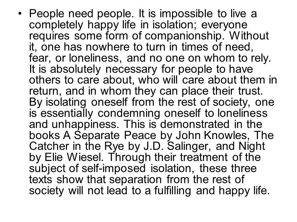 People need people.