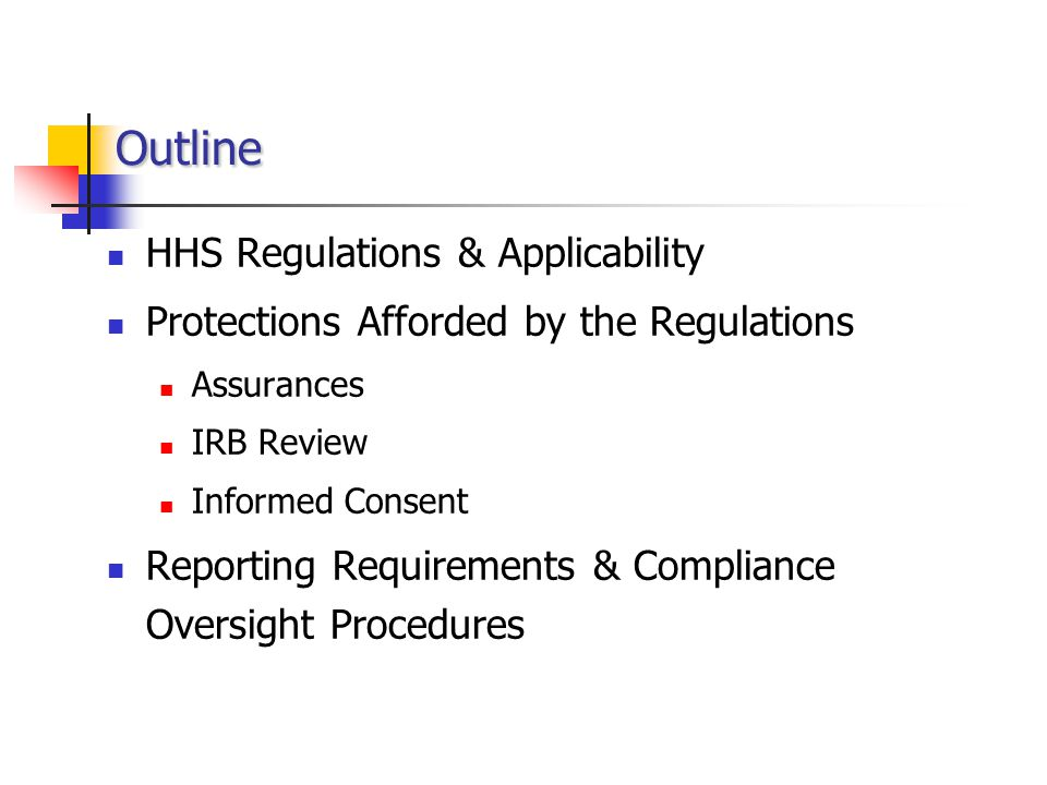 HHS Regulations & Applicability