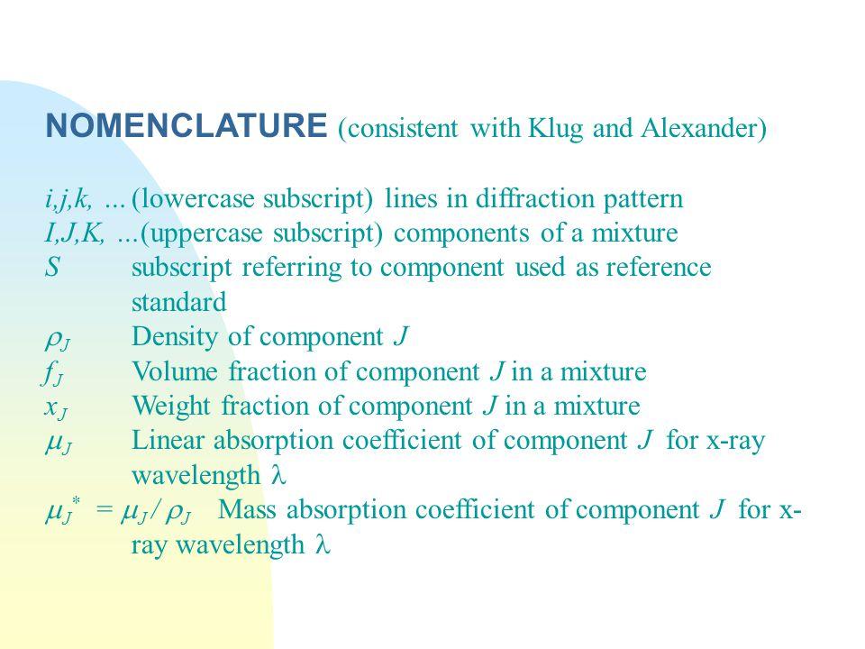 BIBLIOGRAPHY L.E.Alexander and H.P.Klug, Anal.
