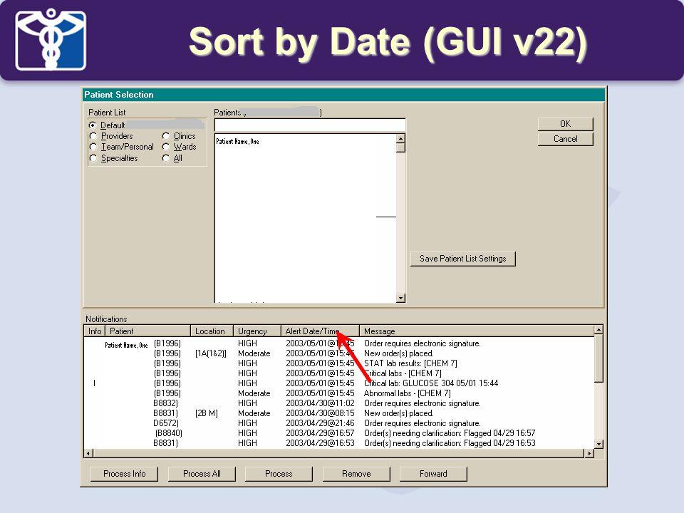 Sort by Date (GUI v22)
