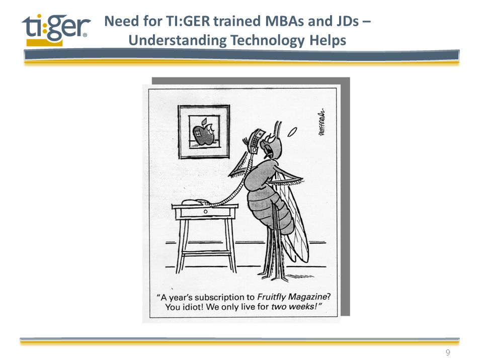 Need for TI:GER trained MBAs and JDs – Understanding Technology Helps 9