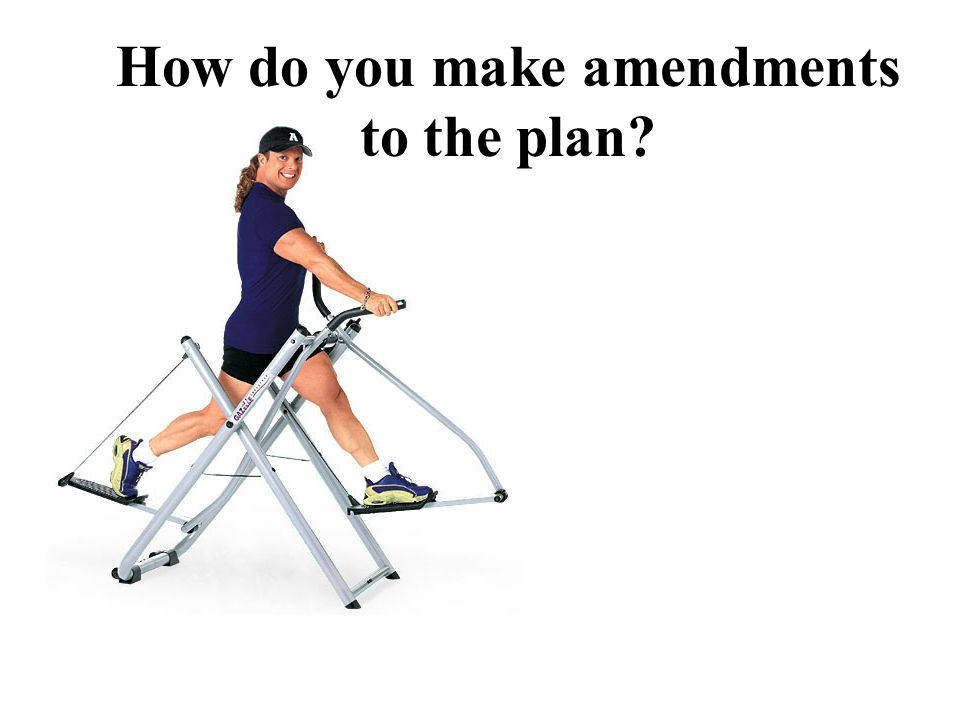 How do you make amendments to the plan